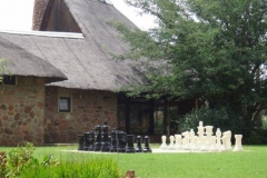 Giant chess outside Reception